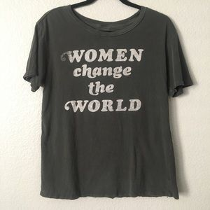 "Junk Food ""Women Change The World"" Graphic Tee M"